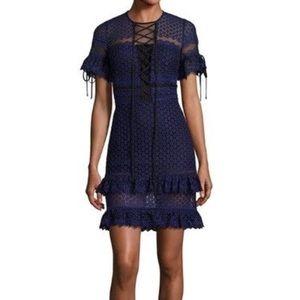 NWOT Parker Ultraviolet Ruffle Lace Dress